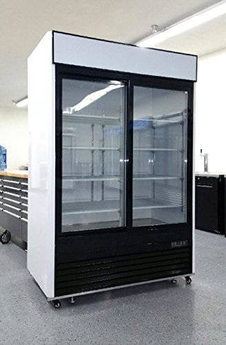Door Display Fridge (2 Door Sliding Glass Merchandiser Reach In Refrigerator Beverage Cooler MCF8709)