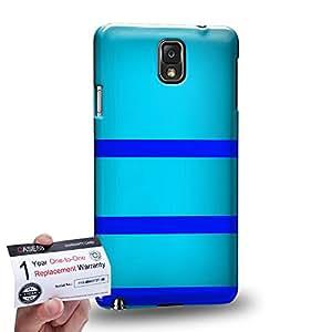 Case88 [Samsung Galaxy Note 3] 3D impresa Carcasa/Funda dura para & Tarjeta de garantía - Art Design Cyan Bumblebee