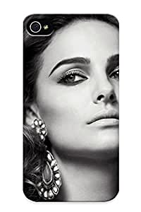 New Style Tpu 4/4s Protective Case Cover/ Iphone 4/4s Case - Women Black And White Actress Natalie Portman Faces