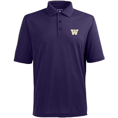 Antigua Purple Classic Shirt - Antigua Washington Classic Pique Polo Shirt (Large, Dark Purple)