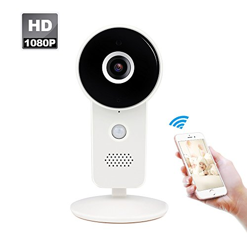 Wireless IP Camera 1080P WIFI Home Security Camera, Super Wide View Angle Nanny Cam,Panoramic WiFi Camera Surveillance System with PIR Motion Detection,Night Vision,Two Way Audio for Pet/Elder/Baby