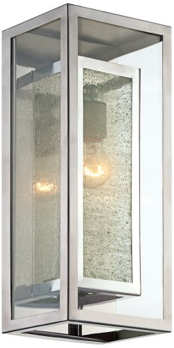 Possini Euro Double Box 15 1/2″H Chrome Outdoor Wall Light Review