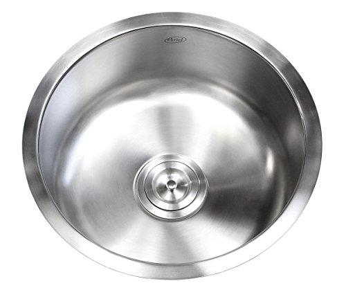 (17 Inch Stainless Steel Undermount Single Bowl Kitchen / Bar / Prep Sink Round - 16)