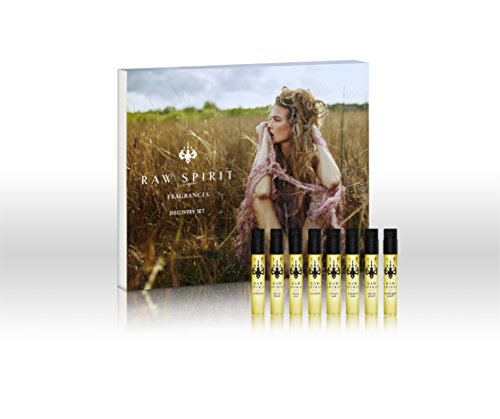 Raw Spirit Discovery Sample Set | Travel Fragrance Collection | Fresh, Spicy, Floral, Citrus, Sensual, 8 Scents - 0.05 fl oz