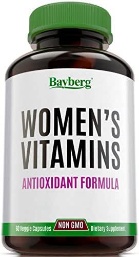 Women's Multivitamins. Antioxidant Energy Supplement with Minerals. Vitamin A C D E + B complex, Vitamins B1 B2 B3 B5 B6 B12 + Calcium, Zinc, Biotin and Folic Acid. Anti Aging, Immune & Bone Support