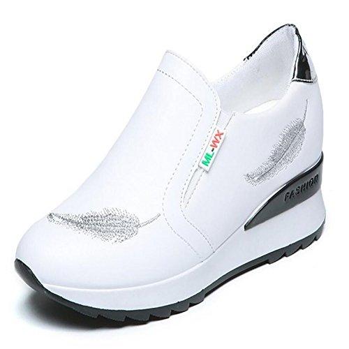 Zapatos deportivos para mujeres Primavera nuevos zapatos deportivos ocasionales Zapatos al aire libre Zapatos cómodos zapatos para estudiantes blanco rojo negro GAOLIXIA Blanco