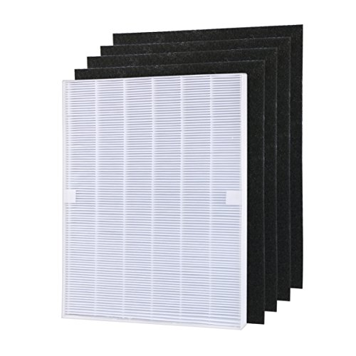 - Aunifun True HEPA Plus 4 Carbon Replacement Filter A 115115 Size 21 for Winix PlasmaWave air Purifier 5300 6300 5300-2 6300-2 P300 C535