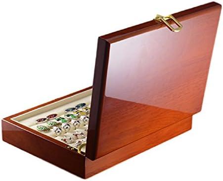 Majestic - Box für Manschettenknöpfe, Ringe und Schmuck aus edlem Holz - Enthält über 20 Manschettenknöpfe oder Ringe - Klassisches und elegantes Design - Ausgezeichnete Geschenkidee und überr