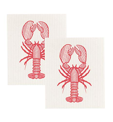 Now Designs Swedish Dishcloth (Set of 2), Lobster Catch Print, 2 ()