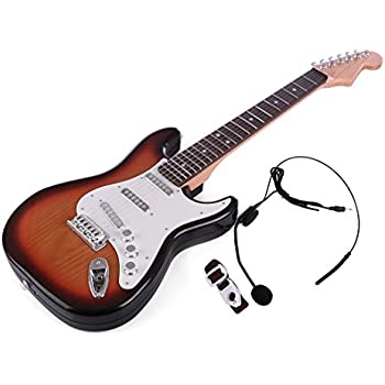 Yamix Guitar for Kids, 6 Strings Rock Band Music Electric Guitar Band Musical Guitar Playthings
