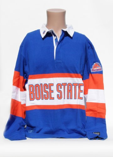 NCAA Boise State Broncos Panel Rugby Shirt, X-Large, Blue/Orange/White by Donegal Bay