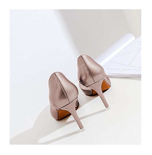 Sexy Shoes Women Light Shoes Dress Pumps Evening Pretty for Gold Pointed Always Toe aqvR8R