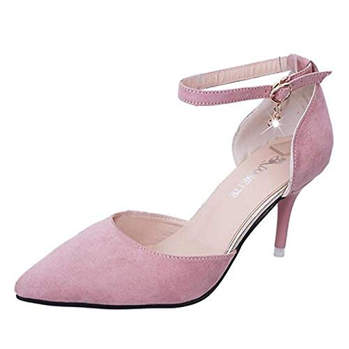 Heel Pink Women'S Gray Pump Shoes Polyurethane Heels QOIQNLSN Basic Pu Stiletto Black Pink Summer Fw4zCqwOx