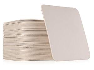 Amazon.com | Qty 50 Plain White Square Coasters: Zentangle Tiles ...