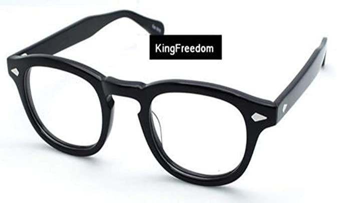 092ad8c352 Image Unavailable. Image not available for. Color  Bright Black Vintage  Eyeglass Frame Full-Rim Retro Glass Man Women Clear Lens Spectacles RX