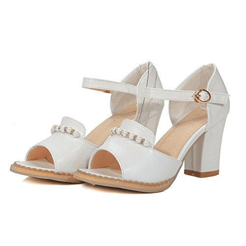 MJS03210 Baguette 1TO9 White Peep Sandals Urethane Womens Distressed Toe Style 8wUCSqw