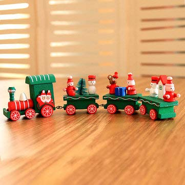 Christmas 2017 Wood Train Christmas Decoration Decor Innovative Gift for Children Diecasts Toy Vehic - Festival Gifts & Party Supplies Christmas Sale - (1) - 1 X Wood -