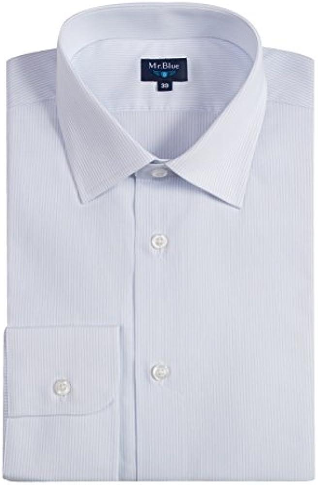 Mr. Blue - Camisa Hombre Clásica Rayas, Color Azul Claro Y Blanco ...