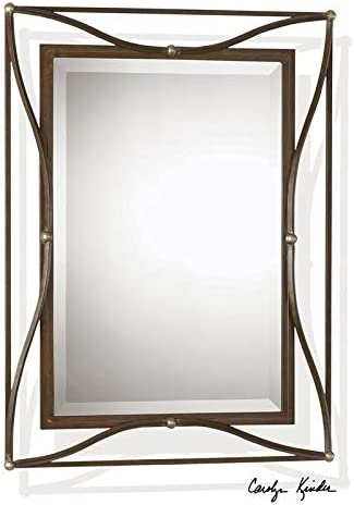 Uttermost Thierry Mirror in Scratched Bronze
