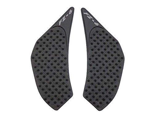 FATExpress Motorcycle 3M Adhesive Rubber Traction Pad Side Fuel Gas Tank Grip Decal Protector for 2006-2010 Yamaha FZ6 FZ-6N FZ6N 2007 2008 2009 06-10