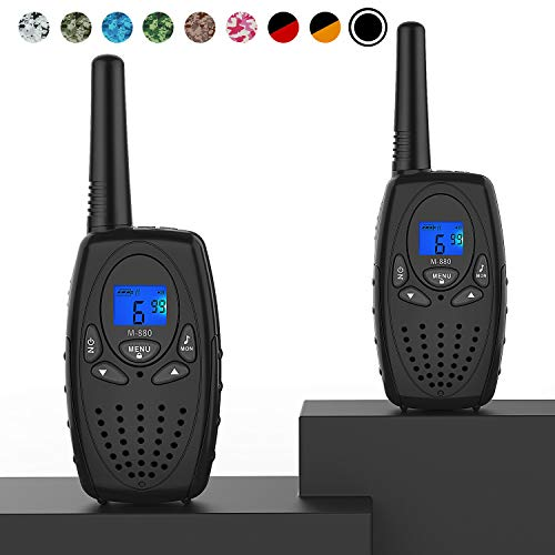 Walkie Talkies for Adults, Topsung M880 FRS Two Way Radio Long Range with VOX Belt Clip/Hand Held Walky Talky with 22 Channel 3 Mile for Family Home Cruise Ship Camping Hiking (Black 2 in 1)]()