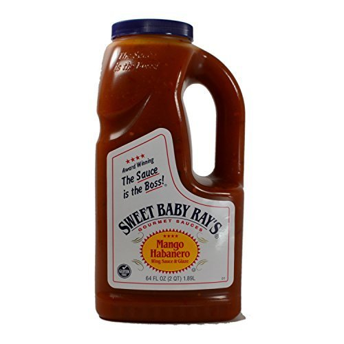 Sweet Baby Rays Mango Habanero Wing Sauce & Glaze 64 Oz. (1-Pack) (Dominos Best Pizza Name)