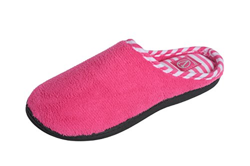 Joan Vass Womens Cabana Striped Terry Clog Slipper (Medium / 6-7 M(B)US, Rose Pink)