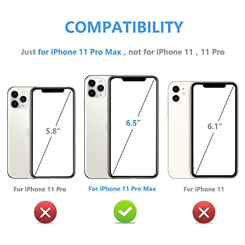 iPhone 11 Pro Max Wallet Case with Card Holder,OT ONETOP PU Leather Kickstand Card Slots Case,Double Magnetic Clasp and…