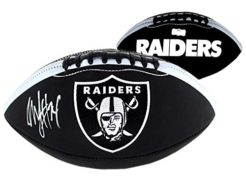 Marshawn Lynch Autographed/Signed Oakland Raiders NFL Embroidered Black Football ()