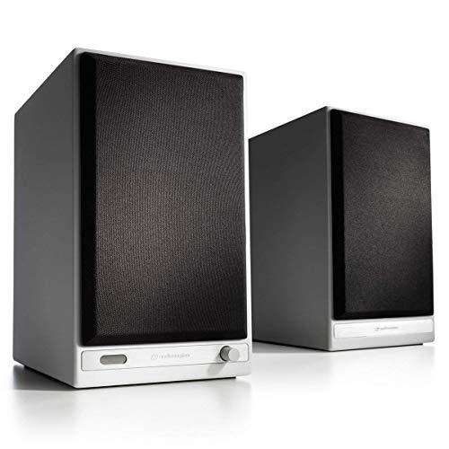 HD6 Wireless Speakers, Audioengine, Powered Bluetooth Speakers (Pair) White