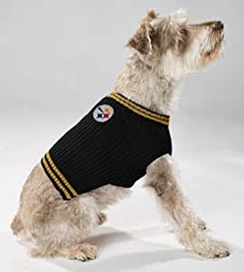 Pets First NFL Pittsburgh Steelers V-Neck Dog Sweater, X-Small