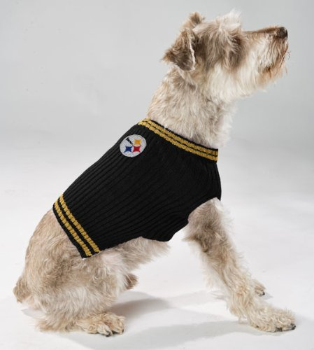 685256b5e Amazon.com   Pets First NFL Pittsburgh Steelers V-Neck Dog Sweater ...