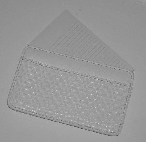 Buxton Pocket Brief Note Holder - White