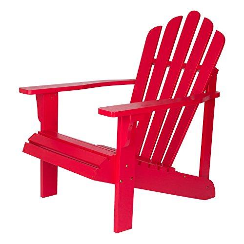Shine Company Inc. 4611TR Westport Adirondack Chair, 28.25W x 35D x 36H, Tomato Red