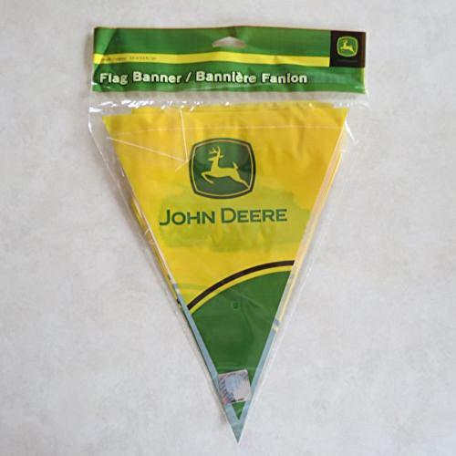 John Deere Flag Banner 12 ft Tractor Party Supply Birthday Green Farmer Banners (John Banner Birthday Deere)