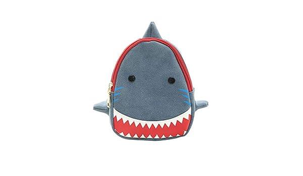 DDG EDMMS Bolsa Linda Cruz de Dibujos Animados Elegante tiburón Boca Grande Mochila práctico Libre del Bolso de Hombro Azul: Amazon.es: Electrónica