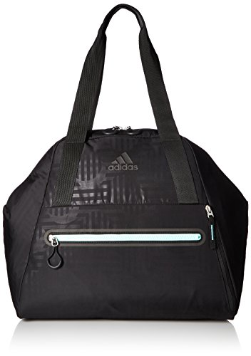 (adidas Studio Hybrid Tote Bag, Black/Easy Green, One)