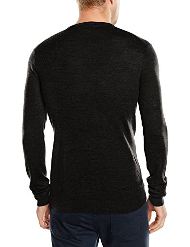 Merino sweater Noos Shdtower Homme noir Sélectionné cou V Noir ICOqaxw5