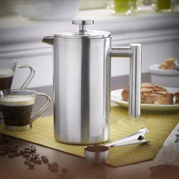 Máquina práctica del café del fabricante del té de la prensa francesa del émbolo del café