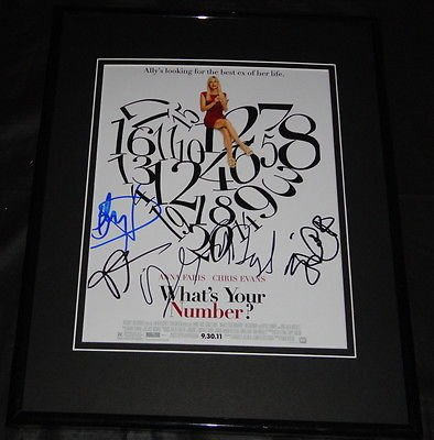 What's Your Number Cast Signed Framed 8x10 Photo AW