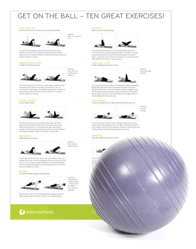 8-10'' Inflatable Ball with Poster by Balanced Body