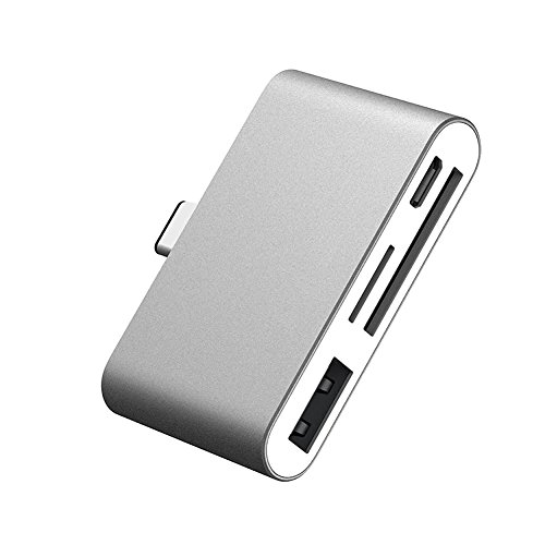 Brymily Charging Port Type-C Dock Card Reader OTG Memory HUB Adapter with TF Card/Micro SD Card/U Disk Reader for Macbook, Chromebook, Windows, Android by Brymily