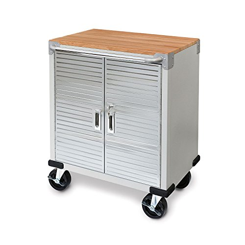 Seville Classics UltraHD 2-Door Steel Rolling Storage Cabinet with Interior Shelf by Seville Classics