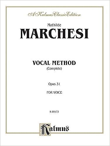 Ilmainen ebook-lataus tietokoneelle Vocal Method, Op. 31 (Complete) (Kalmus Edition) RTF 0769298176
