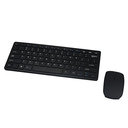 Gotd Slim Black 2.4GHz Cordless Wireless Keyboard and Mouse Set For PC Desktop ()