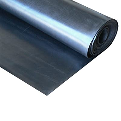 "EPDM - Commercial Grade - 60A - Rubber Sheet - 1/8"" Thick x 3ft Width x 16ft ..."