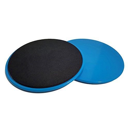 Prom-near 17.8cm ABS Exercise Sliders Set of 2 by Glider Discs Core Exercise Workout Ab Fitness Low Impact Cardio Strength Training Exercise Sliders Work Smoothly on Any Surface
