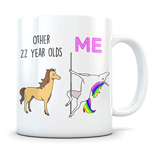 Funny 22nd Birthday Gift for Women and Men - 1997 Turning 22 Years Old Happy Bday Coffee Mug - Gag Party Cup Idea for a Joke Celebration - Best Adult Birthday Presents ()