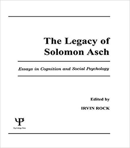 com the legacy of solomon asch essays in cognition and  the legacy of solomon asch essays in cognition and social psychology 1st edition