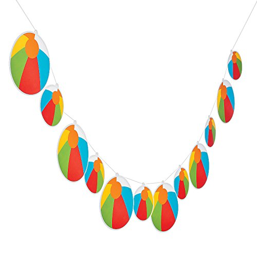 Fun Express - Beach Ball Garland for Birthday - Party Decor - Hanging Decor - Garland - Birthday - 1 Piece for $<!--$4.49-->